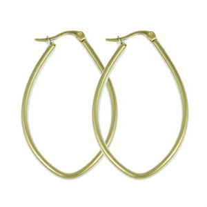Picture of Gold Oval Hoop Earrings